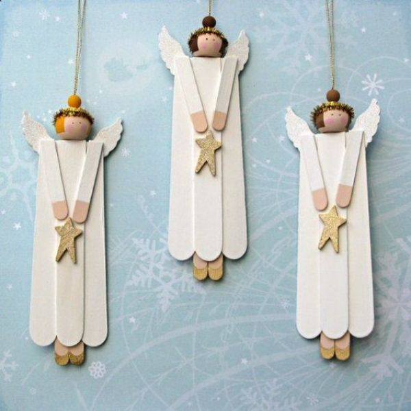 The Holy Angel Craft - Popsicle Stick Christmas Crafts