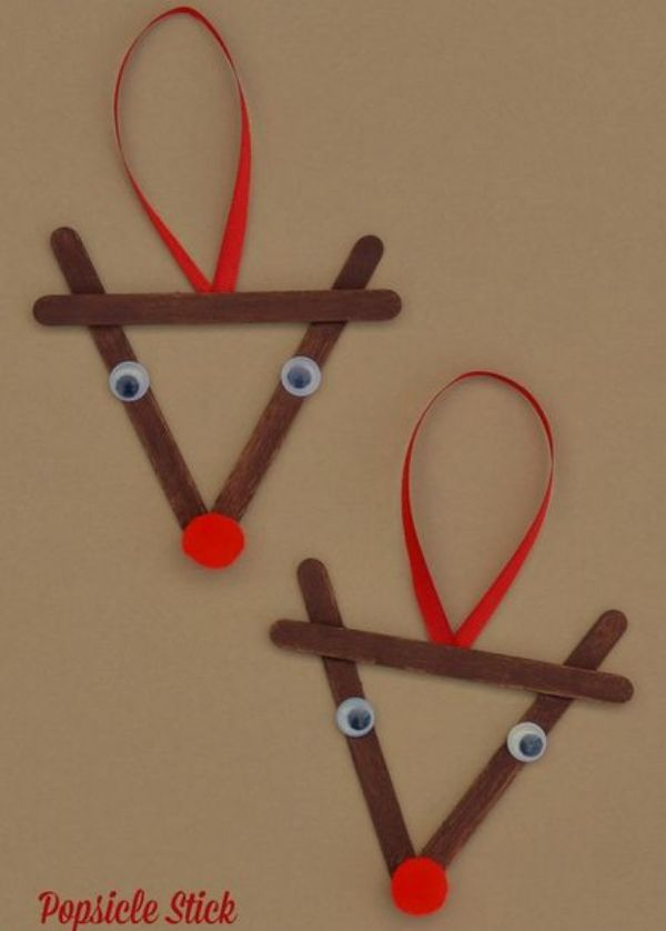 DIY Popsicle Stick Christmas Crafts for Kids