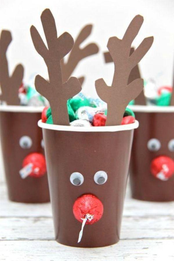 DIY Reindeer Crafts for Kids Plastic Cup Easy Reindeer Craft
