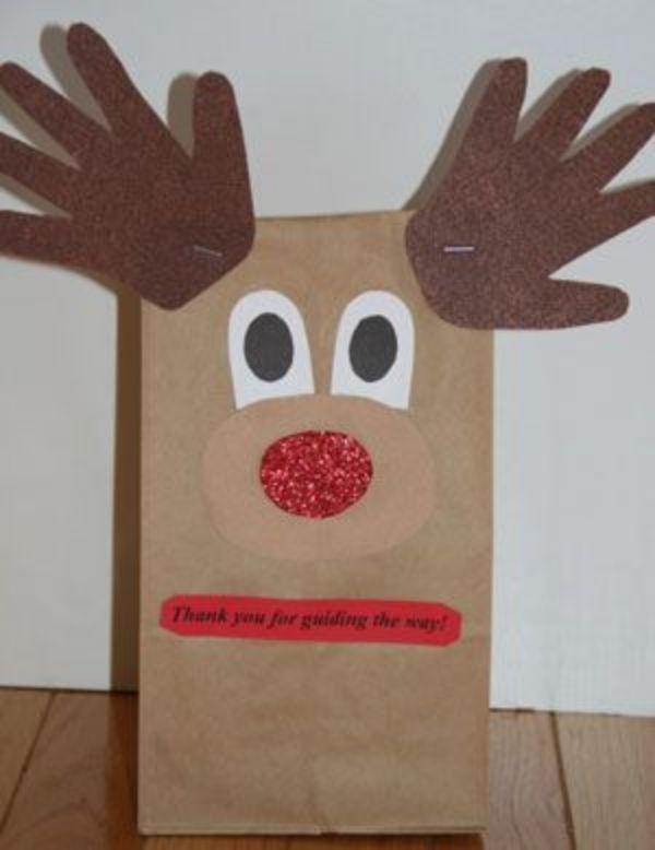 Paper Bag Reindeer Craft