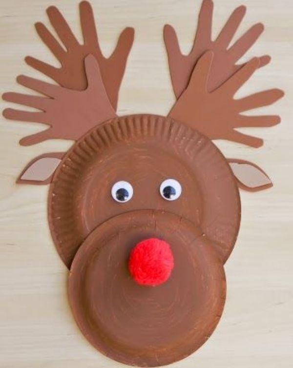 DIY Reindeer Crafts for Kids Paper Plate Reindeer Craft