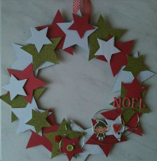 DIY Christmas Wreath Ideas for Kids Starry Night