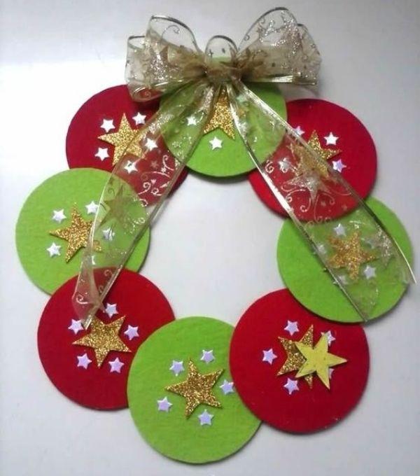 DIY Christmas Wreath Ideas for Kids CD Wreath