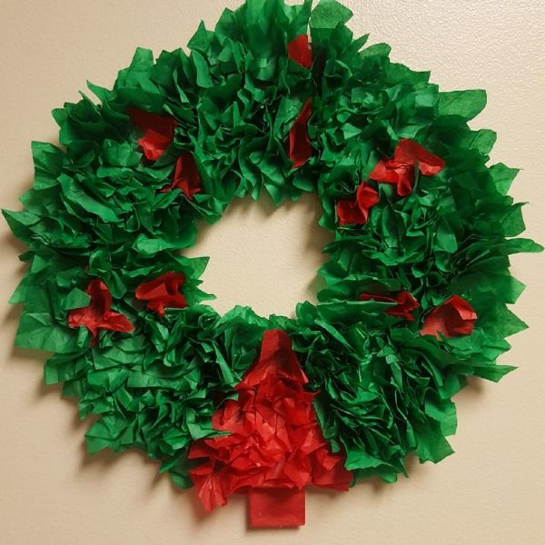 DIY Christmas Wreath Ideas for Kids Streamer And Shimmer