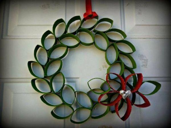 DIY Christmas Wreath Ideas for Kids Loop And Hoop
