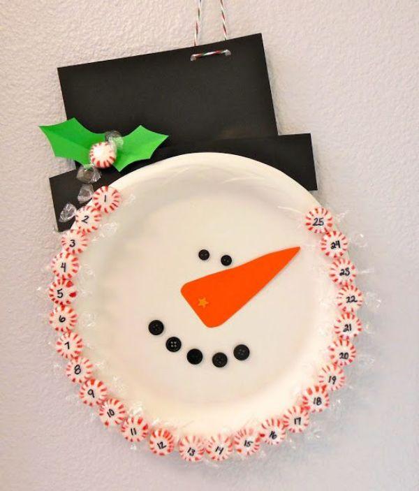 Christmas Snowman Ideas-Easy Snowman Crafts for Kids Snowman Plate Calendar