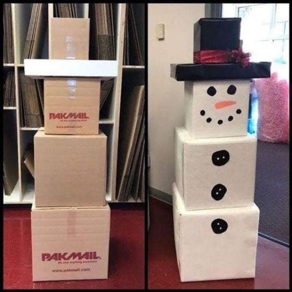 Snowman Boxes