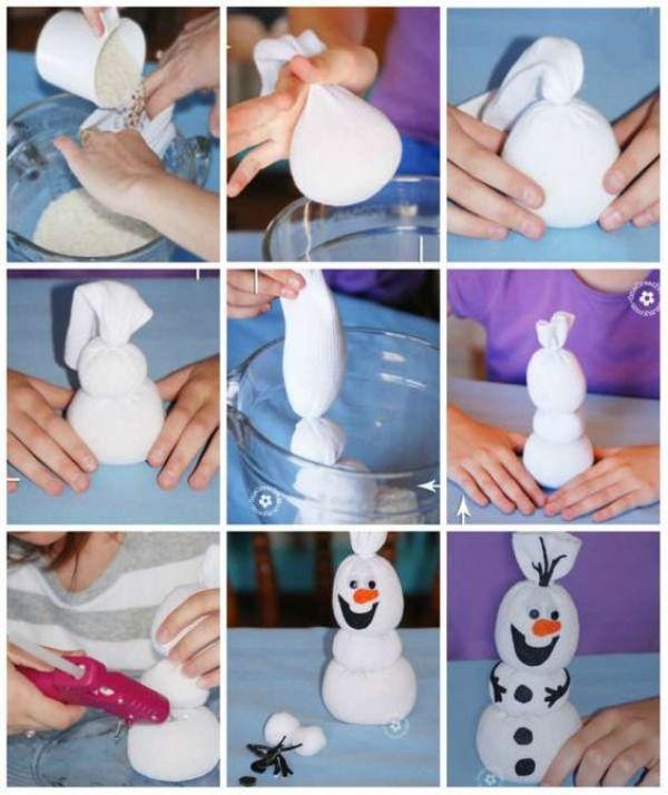 Rice Bag Snowman
