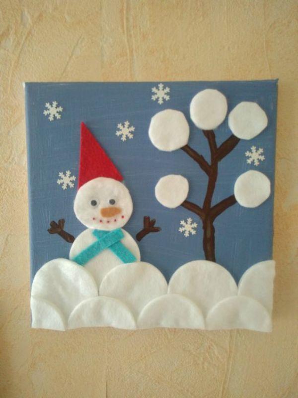 Christmas Snowman Ideas-Easy Snowman Crafts for Kids Snowman Card