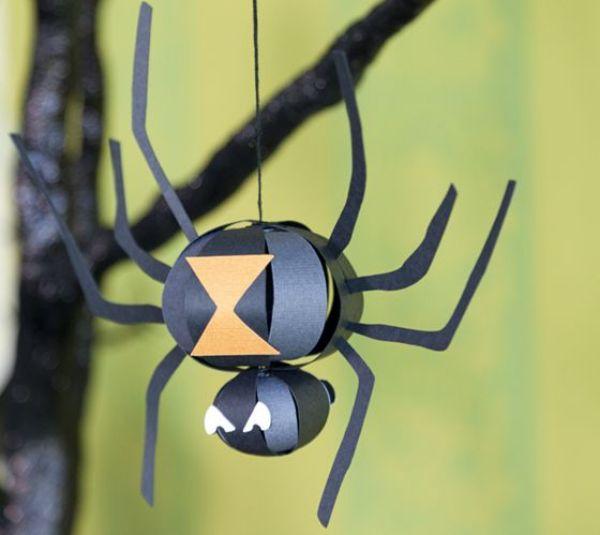 DIY SPIDER CRAFT Paper lantern Spider