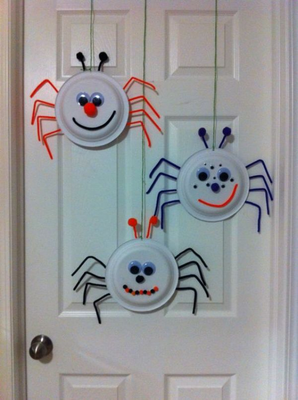 DIY SPIDER CRAFT Paperplate Spider Face
