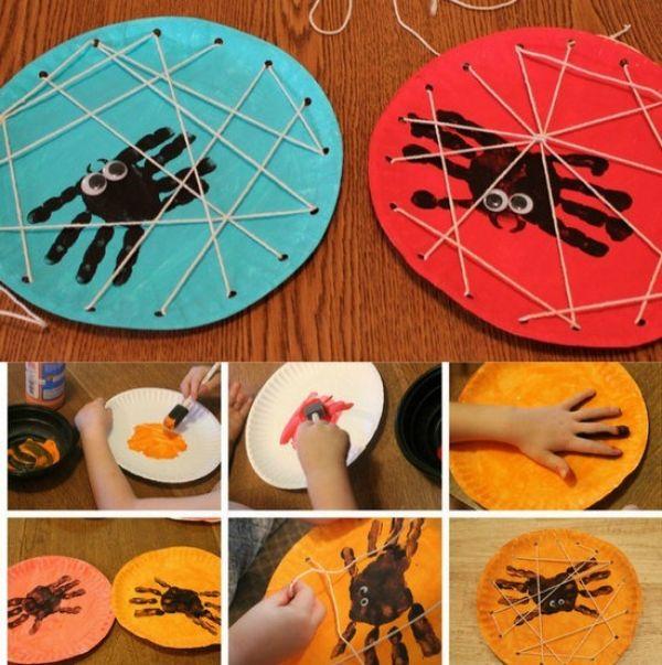 DIY SPIDER CRAFT Handpaint Spider