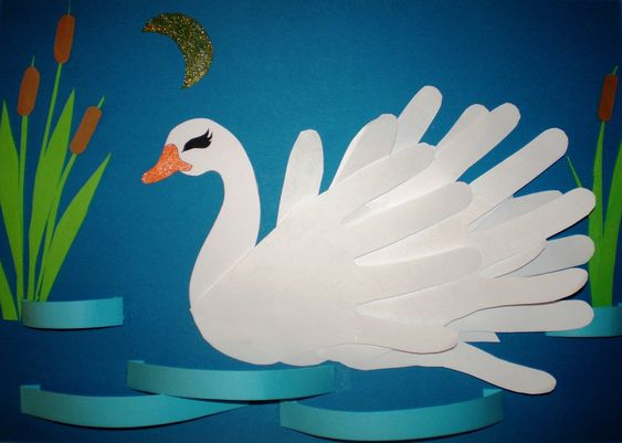 Exciting Paper Swan Craft in The Shape of Hand