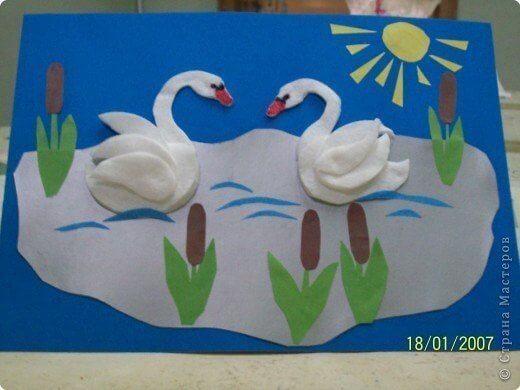 Animal Coloring Printables for Kids Fun Swan Craft