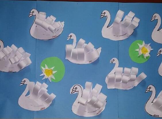 Paper Rolls Swan Craft