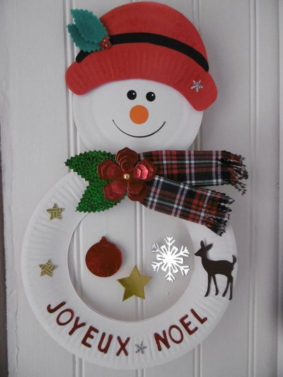 Easy Winter Crafts for Kids-Snowmen and fun Snowman Wreath