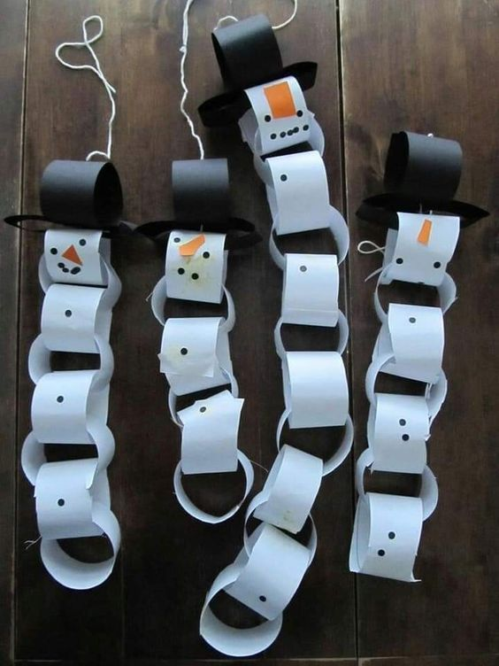 Easy Winter Crafts for Kids-Snowmen and fun