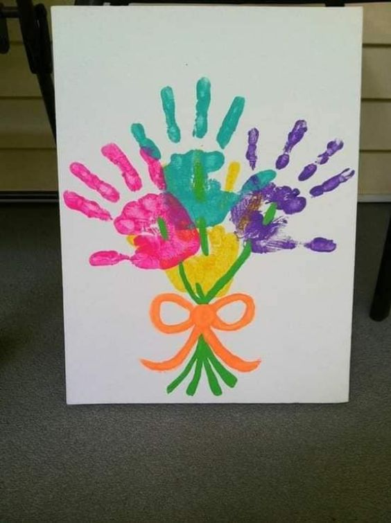 Hand and Footprint Craft Ideas for Kids Bouquet of Memories