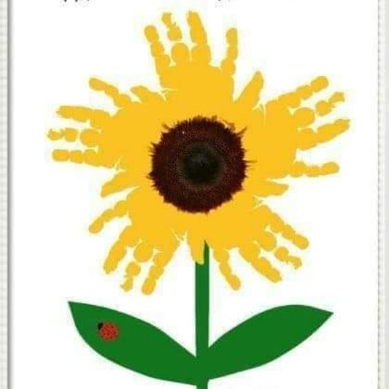 Hand and Footprint Craft Ideas for Kids Handprint Sunflower
