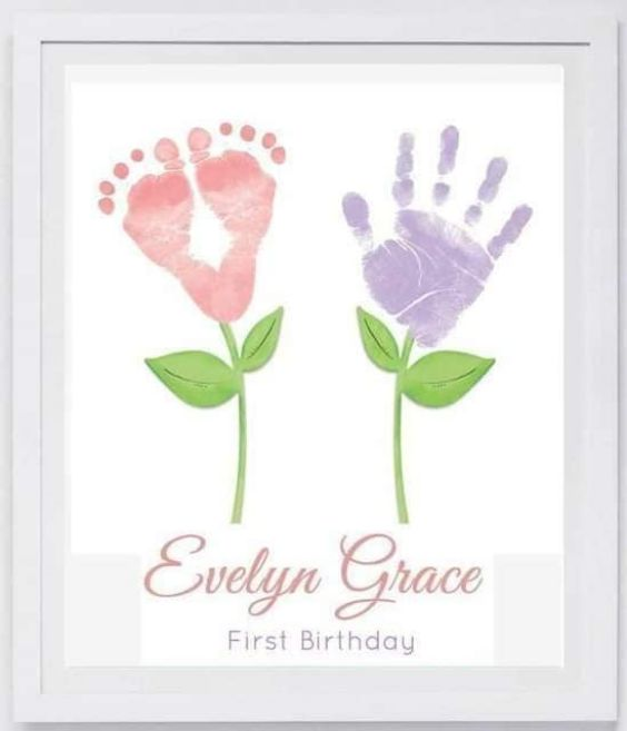 Hand and Footprint Craft Ideas for Kids Memory Frames