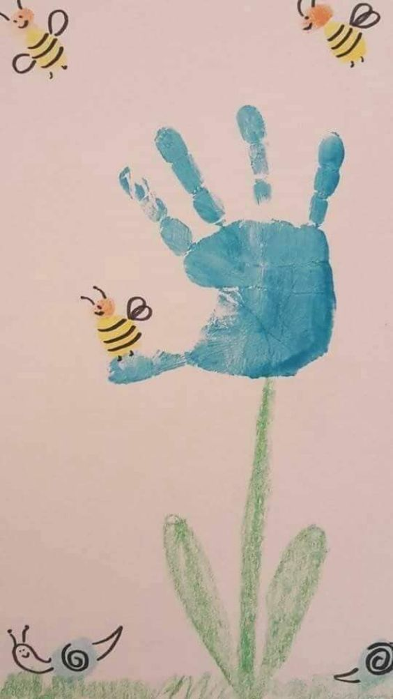 Hand and Footprint Craft Ideas for Kids Bee And Blossom