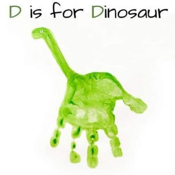 Hand and Footprint Craft Ideas for Kids Dino Painting
