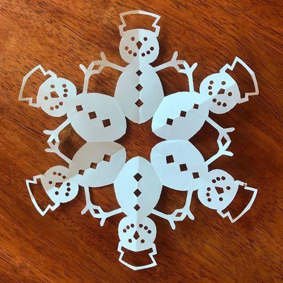 How to Make Paper Snowflakes Snowmen Of Paper Snowflakes