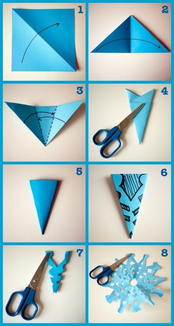 How to Make Paper Snowflakes Blue Paper Snowflakes