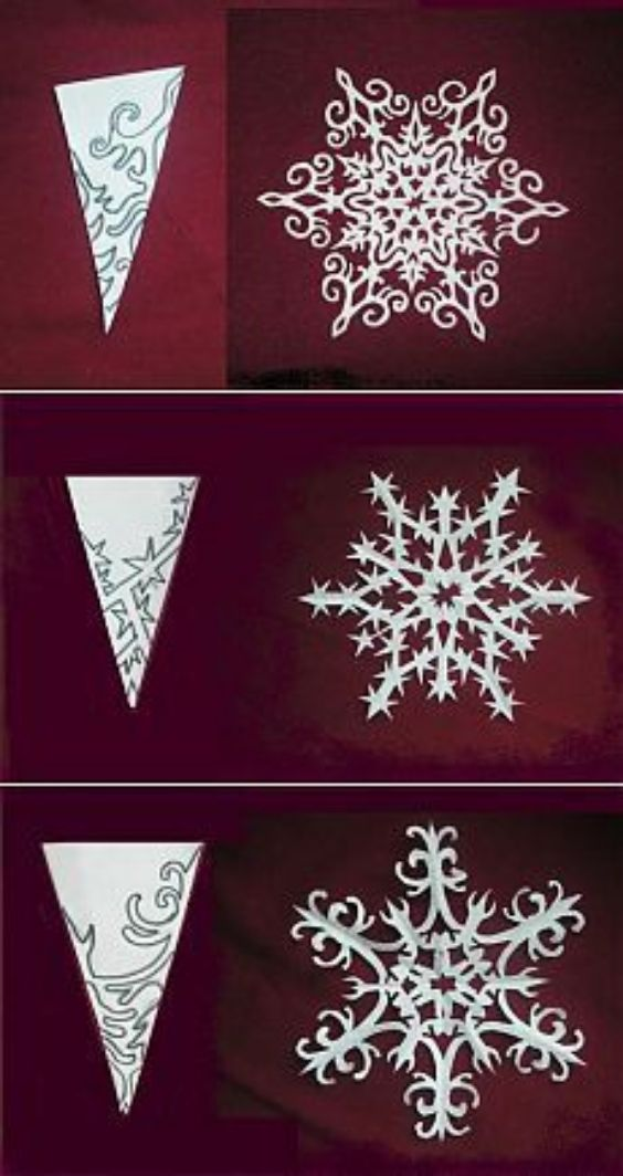 Variation In The Design Of Paper Snowflakes