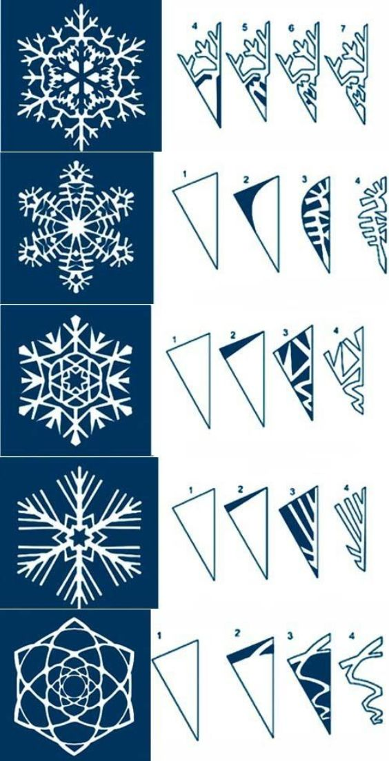 Fun Design Paper Snowflakes