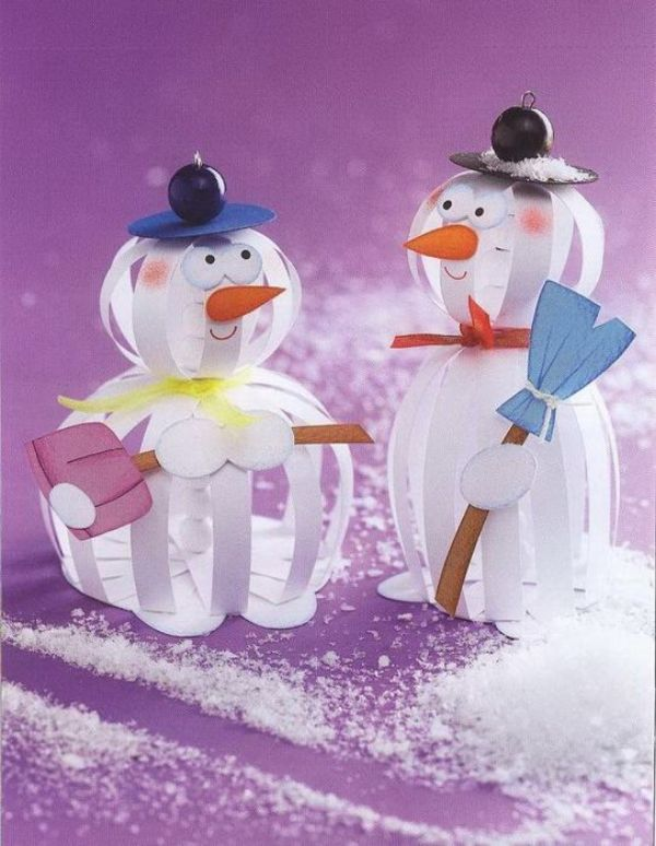Easy And Innovative Paper Snowman Crafts for Kids The Innovative Ones