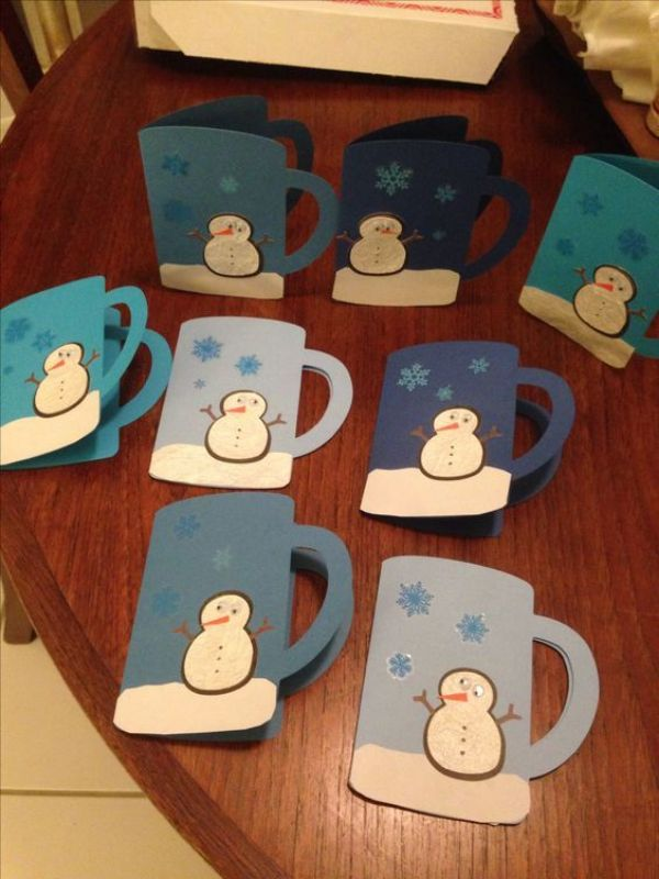 The snowman Cup Craft