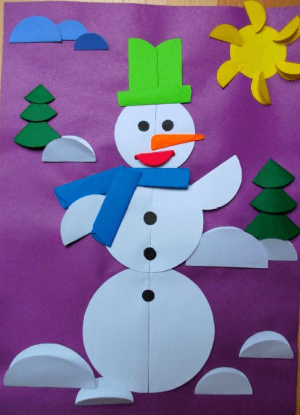 Easy And Innovative Paper Snowman Crafts for Kids The Geometrical Snowman