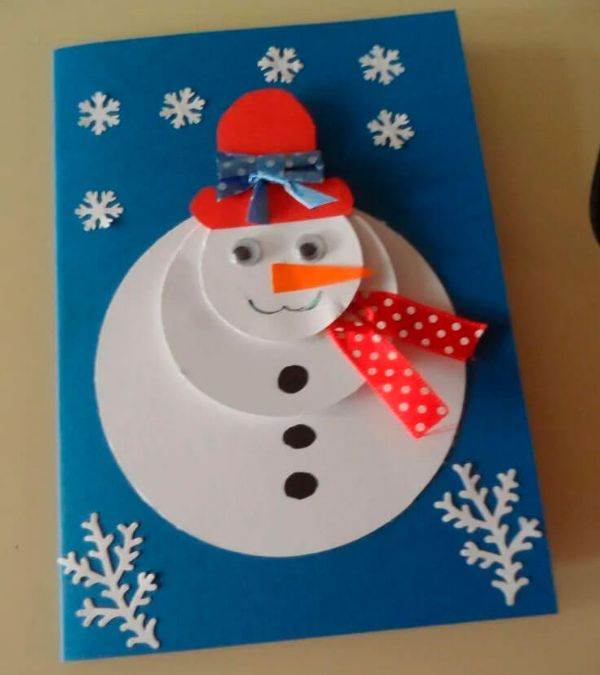 Easy And Innovative Paper Snowman Crafts for Kids The Snowman Greeting Cards
