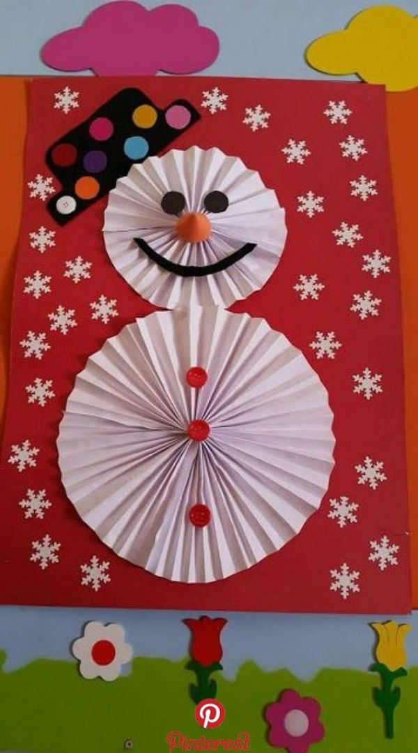 Easy And Innovative Paper Snowman Crafts for Kids