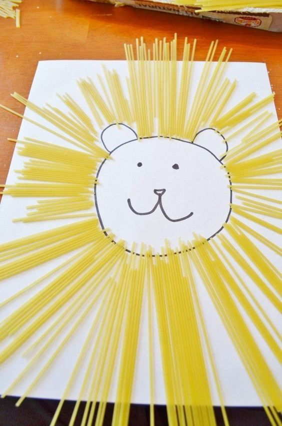 Lion Craft Ideas For Kids Paper Straw Lion