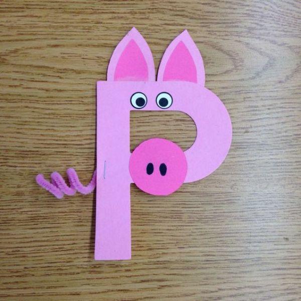 Animal Fun-Pig Crafts for Kids Pig Alphabet
