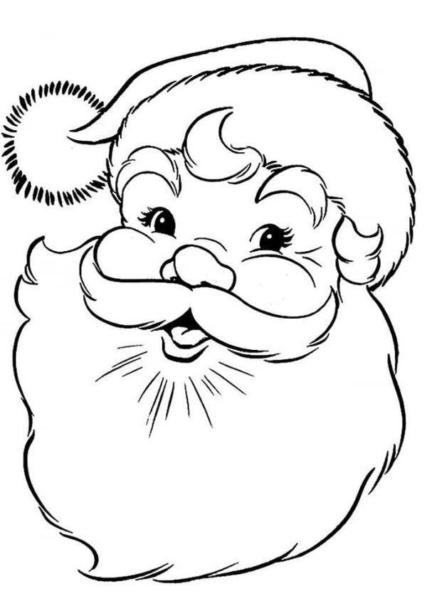 Printable Christmas Coloring Pages For Preschoolers Santa Claus