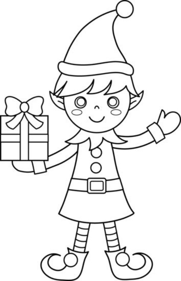 Printable Christmas Coloring Pages For Preschoolers Happy Gift Maker