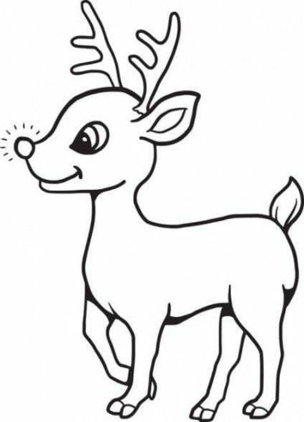 Printable Christmas Coloring Pages For Preschoolers Sweet Reindeer-