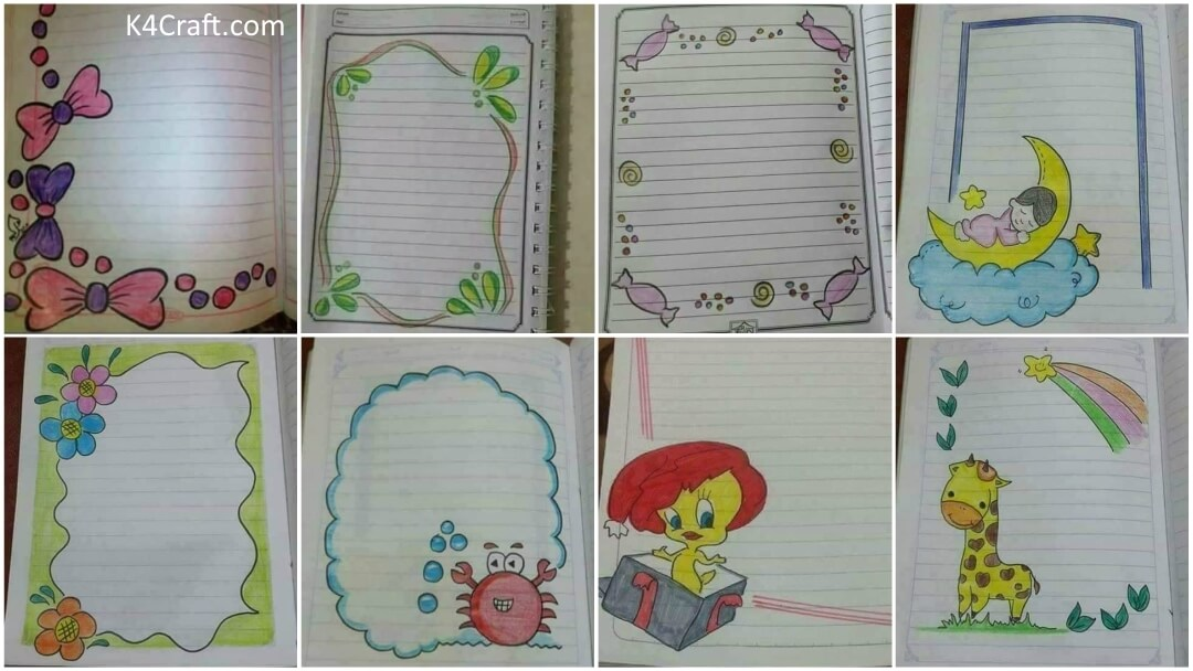 Easy Border Designs For Project File Pages Kids Art Craft 100 border designs on paper for project work by be creative & artistic 100 border designs compilation amazing border design. easy border designs for project file