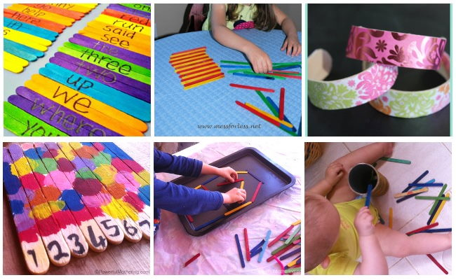 Create sight words for learning Pattern learning and exploration Make jewelry from a craft stick