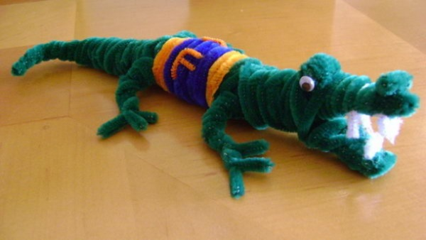 Crocodile of Pipe Cleaner
