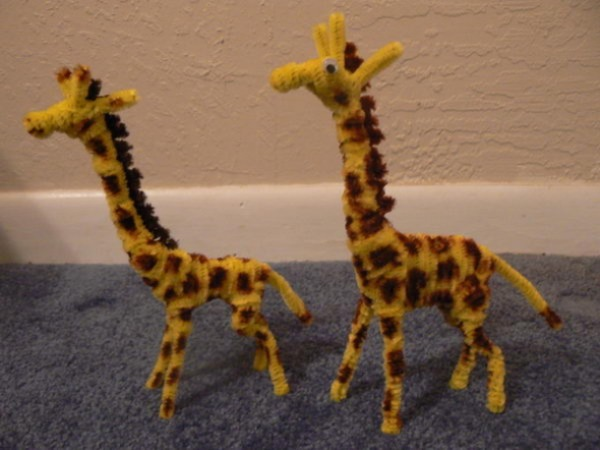 Pipe Cleaners Crafted Giraffe
