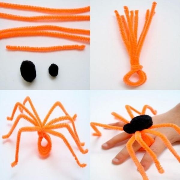 Pipe Cleaner Animal Crafts For Kids Spooky Spider Made up of Pipecleaner