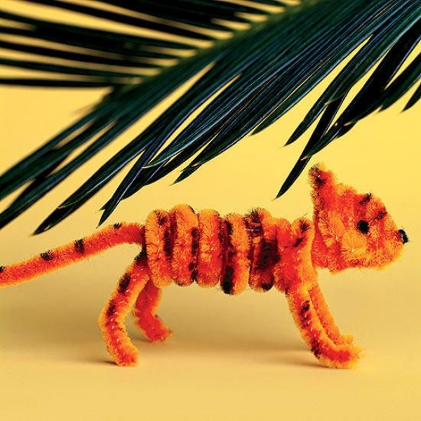 Pipe Cleaner Animal Crafts For Kids Tiger From Pipe Cleaner