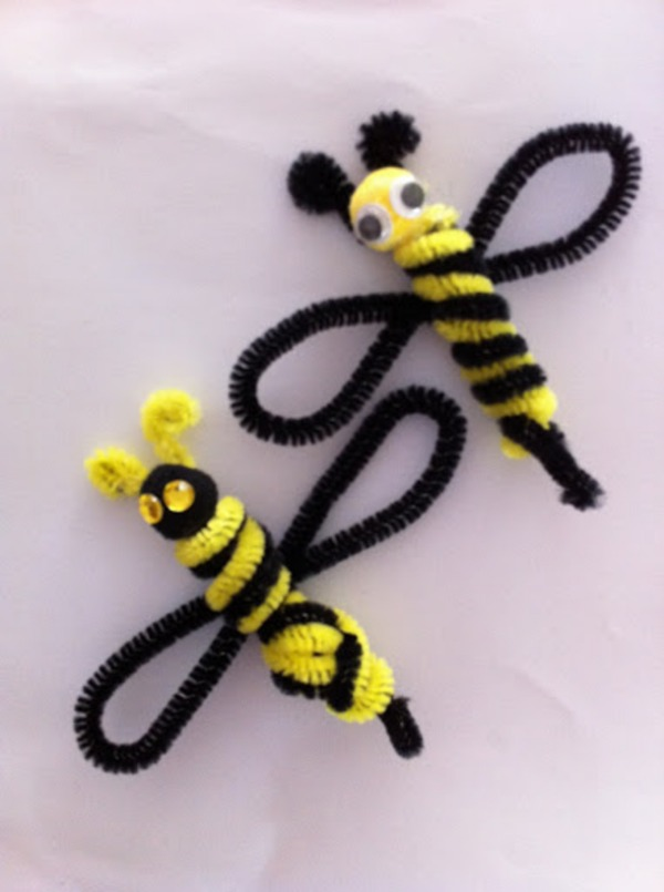 Pipe Cleaner Animal Crafts For Kids Honey Bee Made up of Pipe Cleaner