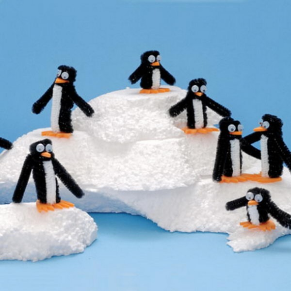 Pipe Cleaner Animal Crafts For Kids Penguin Territory Made up of Pipe Cleaner