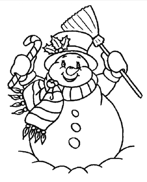 Free Printable Snow Figure Colouring Pages For Kids Christmas-y Mood in The Air