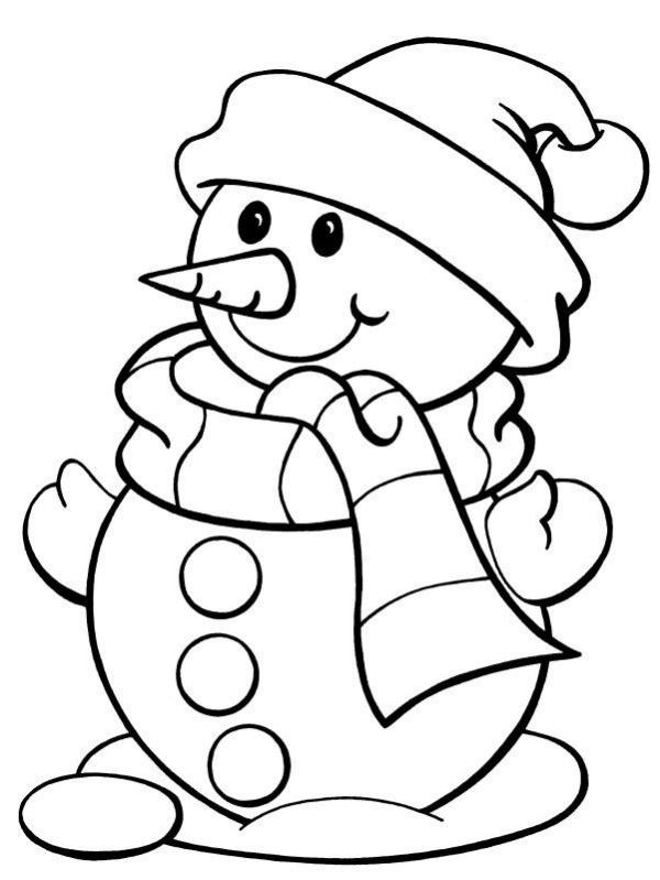 Free Printable Snow Figure Colouring Pages For Kids A Chubby Snow Buddy